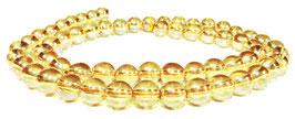 Bergkristall Kugeln goldfarben 6 mm - Strang