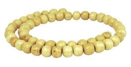 Knochen-Perlen Kugeln im Antik-Look ca. 8 mm - Strang Mala Perlen