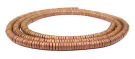 Hämatit runde Scheiben matt kupfer ca. 3x1 mm Heishi Perlen - Strang