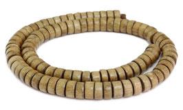 Indisches Silbergrauholz Räder ca. 8,5x4 mm Holzperlen - Strang