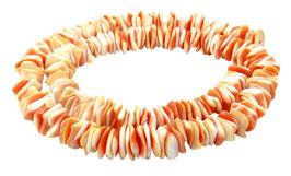 Rote Kegelfechterschnecke quadratische Heishi Perlen ~ 8 mm Muschelperlen