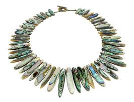 Abalone Halskette Collier ca. 45 cm ( Paua / Perlmutt ) wunderschön & edel!
