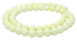 Knochen-Perlen Kugeln ca. 8 mm - Strang Mala Perlen