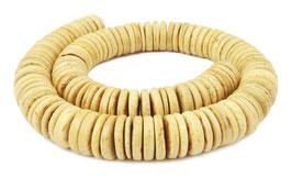 Kokosnuss Scheiben ca. 15x2-4 mm Heishi-Perlen - Strang