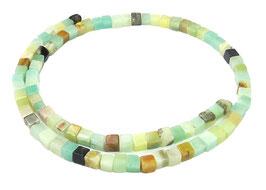 Amazonit multicolor Würfel ca. 4 - 5 mm - Strang