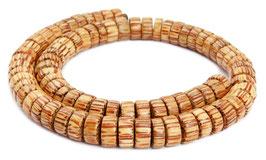 Kokospalmholz Räder ca. 10x4-6 mm  Heishi-Perlen - Strang