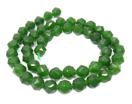 Grüne Jade facettierte Kugeln 7 mm - Strang
