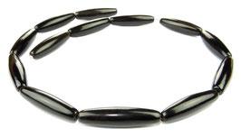 Schwarzes Horn lange Oliven ca. 30x8 mm - Hornperlen Strang