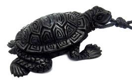 "Schildkröte ""Verbindung mit Mutter Erde"" Anhänger aus Wasserbüffelhorn ~Handarbeit~"