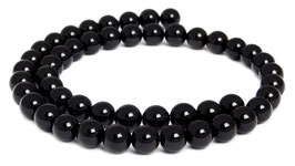 Schwarzer Obsidian Kugeln 8 mm - Strang