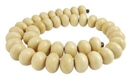 Ambaba-Weißholz Perlen große Rondelle ca. 15x10 mm - Strang