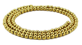 Hämatit goldfarbene Kugeln 3 mm - Strang