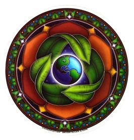 """Fensterbild /Fensteraufkleber """"Schutz für Mutter Erde"""""""