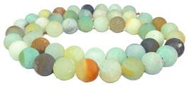 Amazonit multicolor Kugeln matt / gefrostet 8 mm - Strang