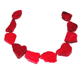 Magnesit große rote Scheiben-Nuggets - Strang