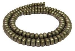 Pyrit Rondelle ca. 6 x 3,5 mm - Strang