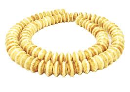 Knochen-Perlen Rondelle im Antik-Look ca. 9x4 mm - Strang