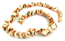 Rosa Kegelfechterschnecke Perlen kleine Spiralen ca. 10x10mm - Strang