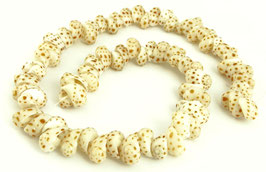 Tiger-Mondschnecke Perlen ganzes Gehäuse ~10-15 mm - Strang