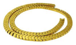 Hämatit Pfeil- / V-förmige Perlen goldfarben ca. 6x4,5 mm - Strang