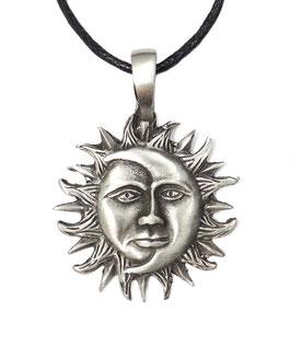 """Sonne-Mond """"Kosmische Einheit"""" Zinn-Anhänger"""