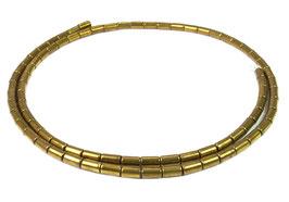 Hämatit goldene Röhrchen ca. 5x3 mm - Strang