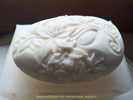 Silber Seife, natürliche, Blumenmuster