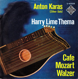 "Anton Karas - Harry Lime Thema / Cafe Mozart Walzer -7""Vinyl- Telefunken U 45 856"