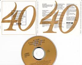 40 Jahre Rundfunkorchester Hannover des NDR -CD- Dixon Steiner Klee