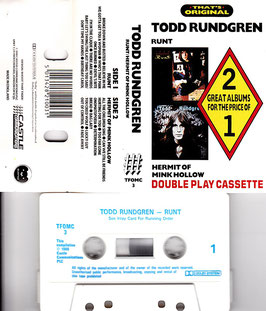 Todd Rundgren - Runt/ Hermit Of Mink Hollow Kassette/ Tape Double Play Cassette