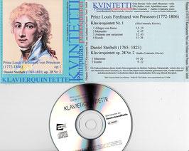 Pihtipudas Kvintetti - Klavierquintette -CD- Prinz L. Ferdinand v. Preussen/ Steibelt