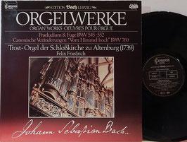 Bach - Orgelwerke -Vinyl-LP- Friedrich Edition Bach Leipzig DMM Capriccio 26 301-2