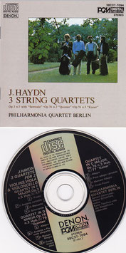 J. Haydn 3 String Quartets -CD- Philharmonia Quartet Berlin Japan Press