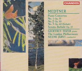 Medtner - Complete Piano Concertos -2CD- Tozer Järvi