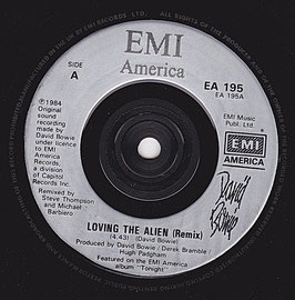 "David Bowie - Loving The Alien (Remix) -7""Vinyl-Single- EA 195 UK"