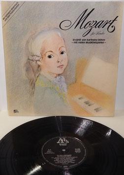 Mozart für Kinder -Vinyl-LP- Erzählt von Karlheinz Böhm; mit farbigem Bilderbuch