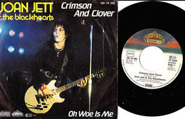 "Joan Jett & The Blackhearts - Crimson And Clover / Oh Woe Is Me -7""Single- Rock"