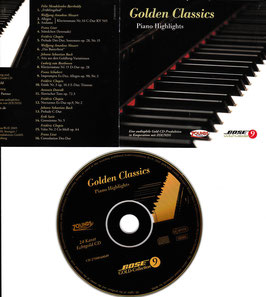 Golden Classics Piano Bose Gold-Collection 9 -24 Karat Echtgold CD- Audiophile