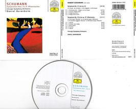 """Schumann Symphonien Nos. 2 & 3 """"Rheinische"""" -CD- Barenboim"""