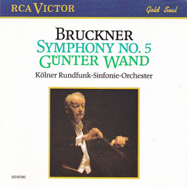 Bruckner Symphony No. 5 Günter Wand -CD- RCA Victor