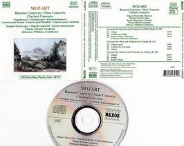 Mozart - Bassoon Concerto Oboe Concerto Clarinet Concerto -CD- Wildner