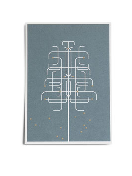 Postkarte, Maibaum von Jurianne Matter