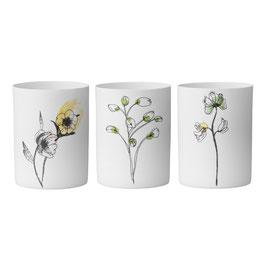 Teelichter, Blumen von Bloomingville