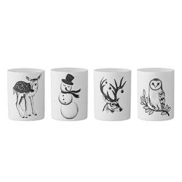 Teelichter mit Wintermotiven von Bloomingville