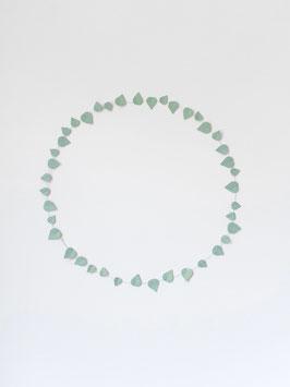 Papierzweig, Twig leaves new mint von Jurianne Matter