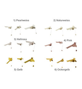Papiervögel Lovebirds von Bungalow