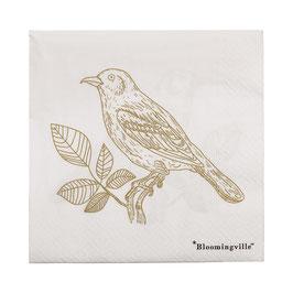 Papierservietten Vogel von Bloomingville