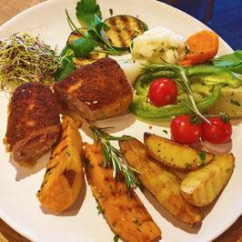 Kalbs-Cordon-Bleu à la Justus mit Gemüse