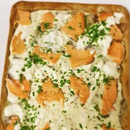 Flammkuchen mit Lachs