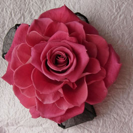 バラのヘアアクセサリ ~ ピンク ~